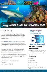 Aware shark